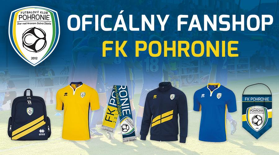Fanshop FK Pohronie na www.futbalshop.sk - stránka sa otvorí v novom okne