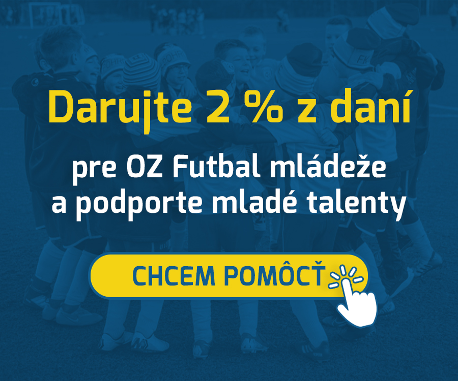 Darujte 2 z daní pre OZ Futbal mládeže a podporte mladé talenty!