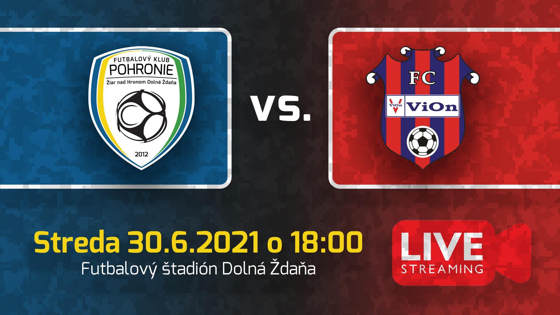 Prípravný zápas proti ViOnu už dnes o 18.00