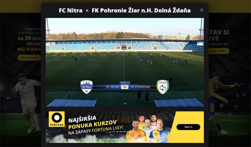 Zápas proti Nitra môžete sledovať aj online