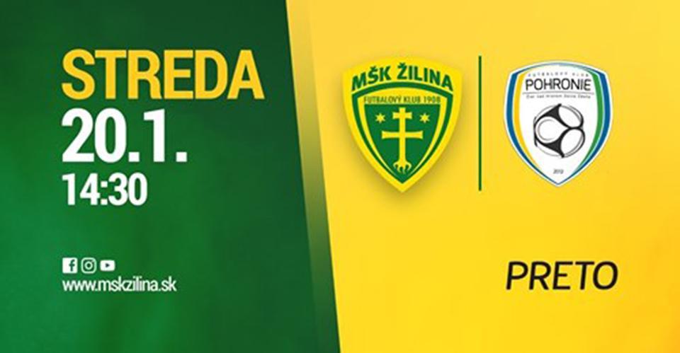 Sledujte živý stream MŠK Žilina - FK Pohronie